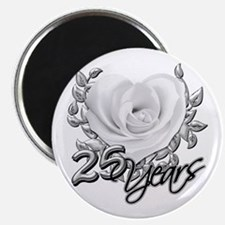 Silver Anniversary Rose Magnet