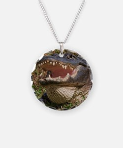 alligator with teeth showing Necklace