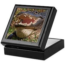 alligator with teeth showing Keepsake Box