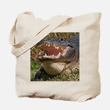 alligator with teeth showing Tote Bag