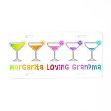 Margartia Loving Grandma Aluminum License Plate