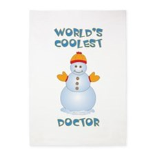 World's Coolest Doctor 5'x7'Area Rug