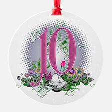 10th Wedding Anniversary Ornament