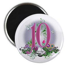 10th Wedding Anniversary Magnet