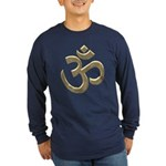 Golden Ohm & Buddha Quote Long Sleeve Dark T-Shirt