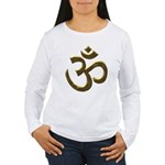 Golden Ohm & Buddha Quote Women's Long Sleeve T-Sh