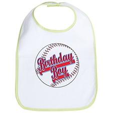 Baseball Birthday Boy Bib