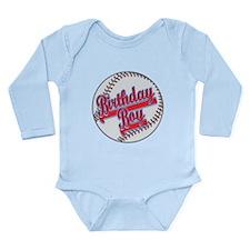 Baseball Birthday Boy Long Sleeve Infant Bodysuit
