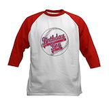 Baseball birthday boy Long Sleeve T Shirts