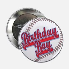 "Baseball Birthday Boy 2.25"" Button"