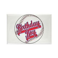 Baseball Birthday Boy Rectangle Magnet