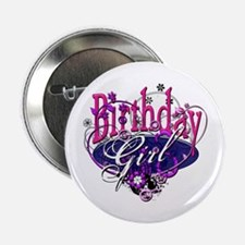"Birthday Girl Grunge 2.25"" Button"