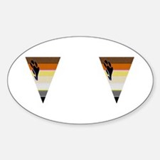 2 BEAR PRIDE VERTICAL TRIANGL Oval Decal