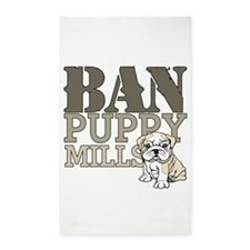 Ban Puppy Mills 3'x5' Area Rug