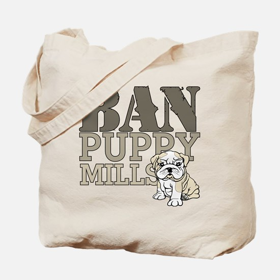 Ban Puppy Mills Tote Bag