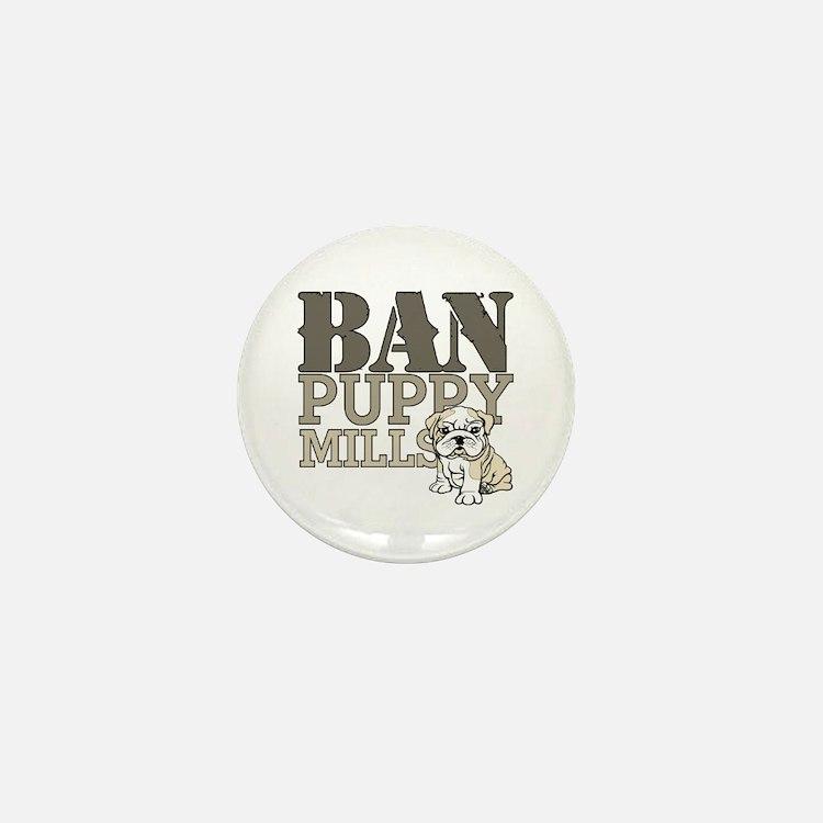 Ban Puppy Mills Mini Button