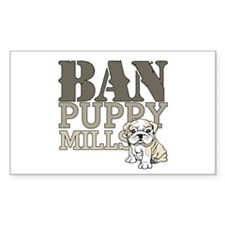 Ban Puppy Mills Decal