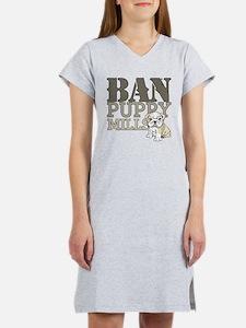 Ban Puppy Mills Women's Nightshirt