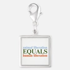 Animal Liberation Silver Square Charm