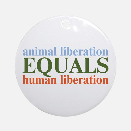 Animal Liberation Ornament (Round)