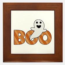 BOO Spooky Halloween Casper Framed Tile