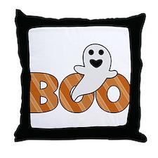 BOO Spooky Halloween Casper Throw Pillow