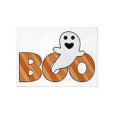 BOO Spooky Halloween Casper 5'x7'Area Rug