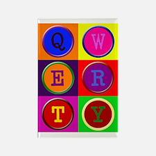 POP ART QWERTY Rectangle Magnet
