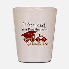 Proud 2017 Graduate Red Shot Glass