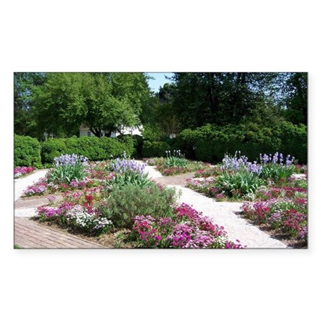 GOVERNORS PALACE FORMAL GARDEN Sticker (Rectangle)