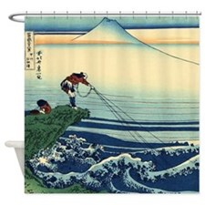 Kajikazawa by Hokusai Shower Curtain