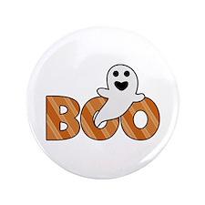 "BOO Spooky Halloween Casper 3.5"" Button"