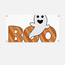 BOO Spooky Halloween Casper Banner