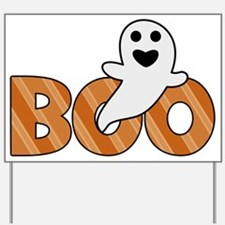 BOO Spooky Halloween Casper Yard Sign