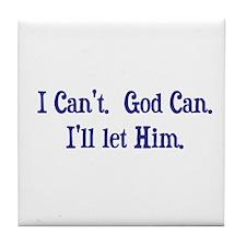 God can (light) Tile Coaster