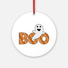 BOO Spooky Halloween Casper Ornament (Round)
