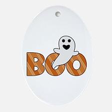 BOO Spooky Halloween Casper Ornament (Oval)