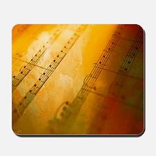 sheet music watercolor Mousepad