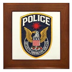 Federal SPS Police Framed Tile