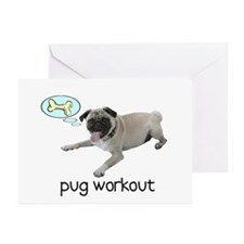 Pug Workout Greeting Cards (Pk of 10)