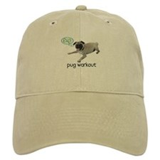 Pug Workout Baseball Cap