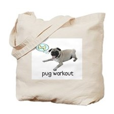 Pug Workout Tote Bag