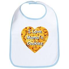 I Love Mama's Cookies Bib