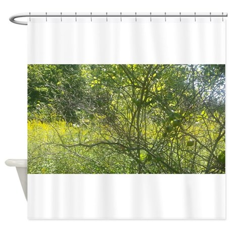 nature web shower curtain by piscesmoon1