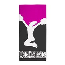 Cheer Pink and Black Beach Towel