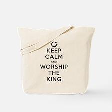 Keep Calm & Worship The King Tote Bag