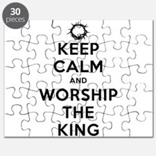 Keep Calm & Worship The King Puzzle