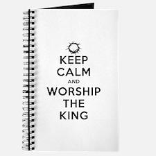 Keep Calm & Worship The King Journal