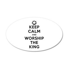 Keep Calm & Worship The King Wall Decal