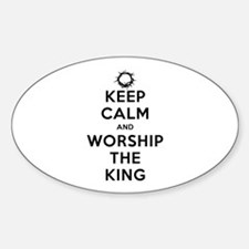 Keep Calm & Worship The King Decal
